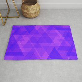 Bright purple triangles in intersection and overlay. Rug