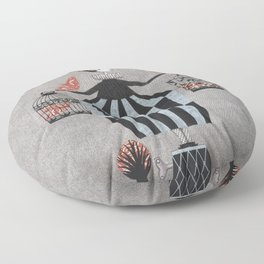 The Bird Act Floor Pillow