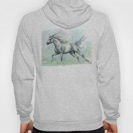 Running arabian horse Hoody