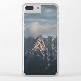 Dolomites during the Sunset Clear iPhone Case