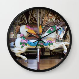 Vintage Carousel Horse galloping Wall Clock