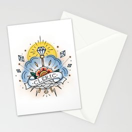 Cleric - Vintage D&D Tattoo Stationery Cards