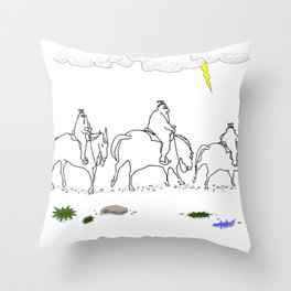 Cyclops Riders on the Storm Throw Pillow