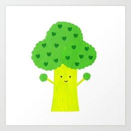 Brocolli Buddy Art Print