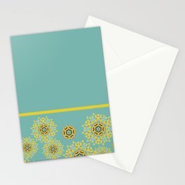 bee's flower down Stationery Cards