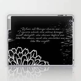Charles Baudelaire - The Temptation - She consoles me like the night Laptop & iPad Skin