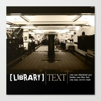 library Canvas Prints featuring Library by Phil Perkins