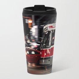 Red buses street Travel Mug