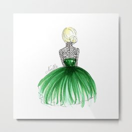 Emerald Dress Metal Print