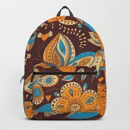 Floral Khokhloma pattern Backpack