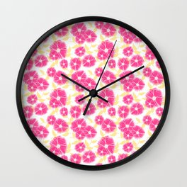 12 Sketched Mini Flowers Wall Clock