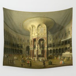 London, Interior of the Rotunda at Ranelagh by Canaletto Wall Tapestry