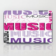 The Word Music In Purple and Pink iPad Case