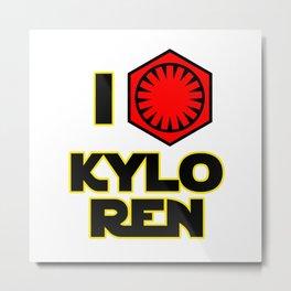 """I """"heart"""" Kylo Ren #2 Metal Print"""
