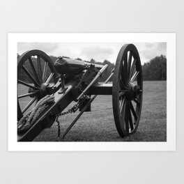 Civil War Era Cannon Art Print