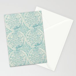 notting hill: aqua with cream Stationery Cards