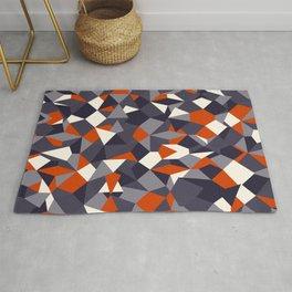 Fragmented geometrics - orange and grey shades Rug