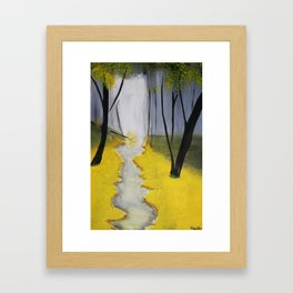 In the Yellow Woods Framed Art Print