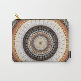 Brown Ink Boho Mandala Carry-All Pouch