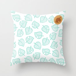 animal crossing cute nook shirt pattern Throw Pillow