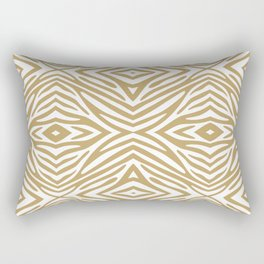 Fallow Neutral Zebra Rectangular Pillow