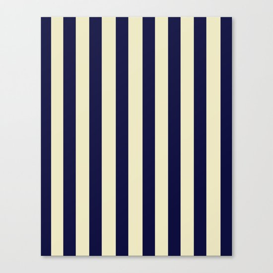 Navy Stripes Canvas Print