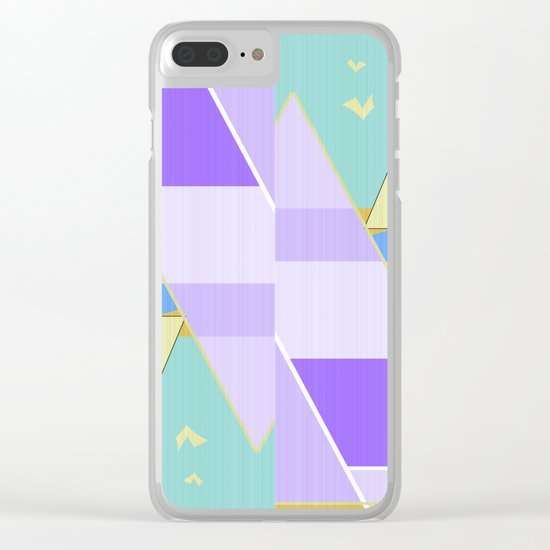Abstraction in purple and blue colors .  Clear iPhone Case