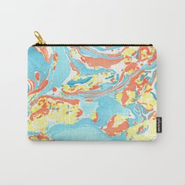 Marbling Paper Carry-All Pouch