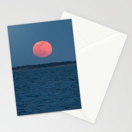 Red Worm Moon Stationery Cards