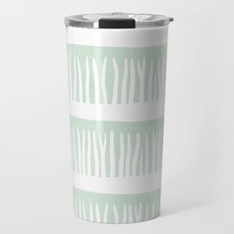 Abstract Blades of Grass in Mint Travel Mug