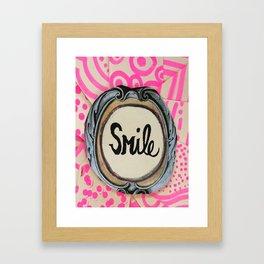 3 second smile Framed Art Print