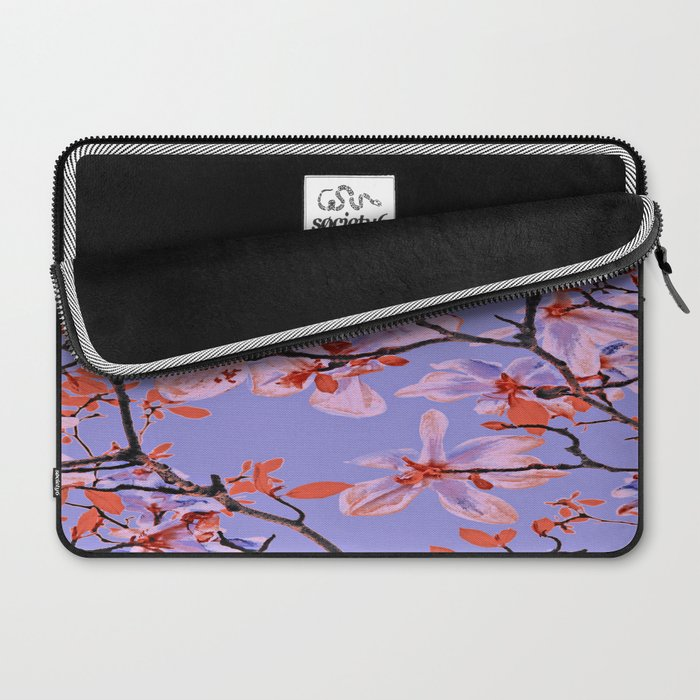 Copper Flowers on violett ground Laptop Sleeve