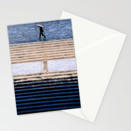 Blue and rain Stationery Cards