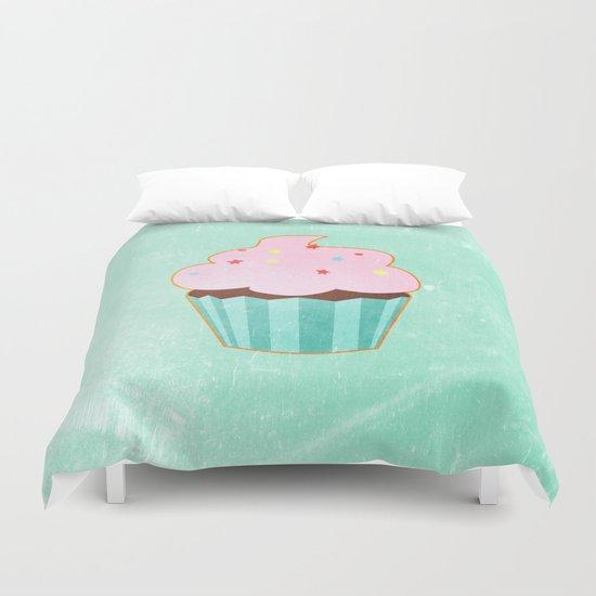 Cupcake tasty, sweet illustration Duvet Cover