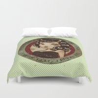 drunk Duvet Covers featuring PUNCH DRUNK by Misa NZ