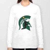 michigan Long Sleeve T-shirts featuring Michigan Basketball by Anthony M. Davis