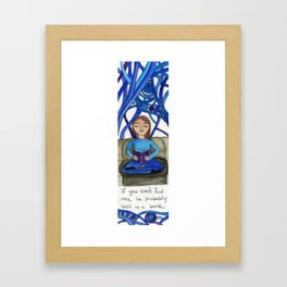 Lost In A Book Framed Art Print