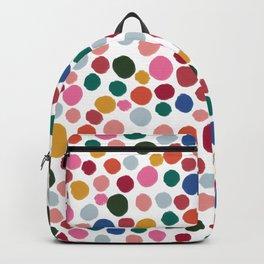 confetti rainbow dots Backpack