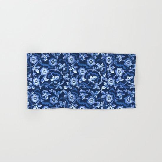 Blue floral pattern Hand & Bath Towel
