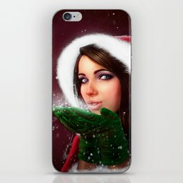 Lady Christmas iPhone Skin