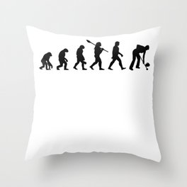 Curling sport Throw Pillow
