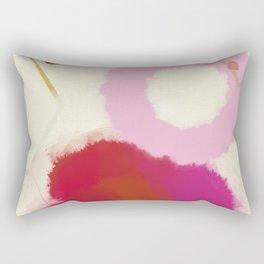 pink circle abstract dots dancing polka in rain Rectangular Pillow