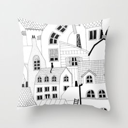 COMPACT LIVING (INK ONLY) Throw Pillow