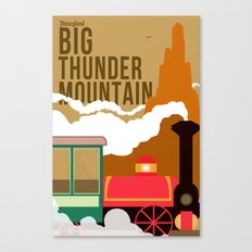 Disney Minimalism-Big Thunder Mountain Canvas Print