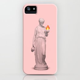 lady with fire iPhone Case