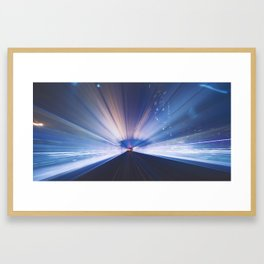 METRO NIGHTS Framed Art Print