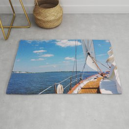 Sweet Sailing - Sailboat on the Chesapeake Bay in Annapolis, Maryland Rug