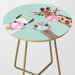 Bubble Gum Gang in Green Side Table