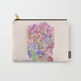 Iris Garden pastel drawing Carry-All Pouch