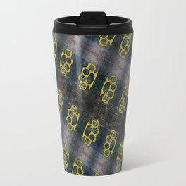 Brass Knuckles Pattern Travel Mug